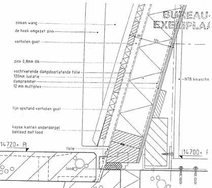 Schuin dak opbouw