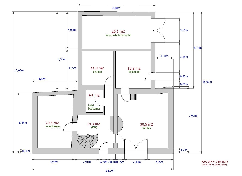 Soorten van bouwkundig tekenwerk - Ingang van een huis ...